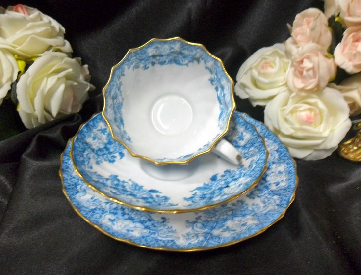 Antique Spode Copeland Aqua Blue Floral Gilded Trio C1891 | eBay The pattern number is 6763 & 83 best Spode (Copeland) China images on Pinterest | Primroses Blue ...