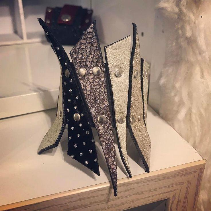 Comfortable medium size leather bracelet by EvilEve #evilevedesign #evileve #leathercuff #leather #fashionistas #ljubljana #bracelet