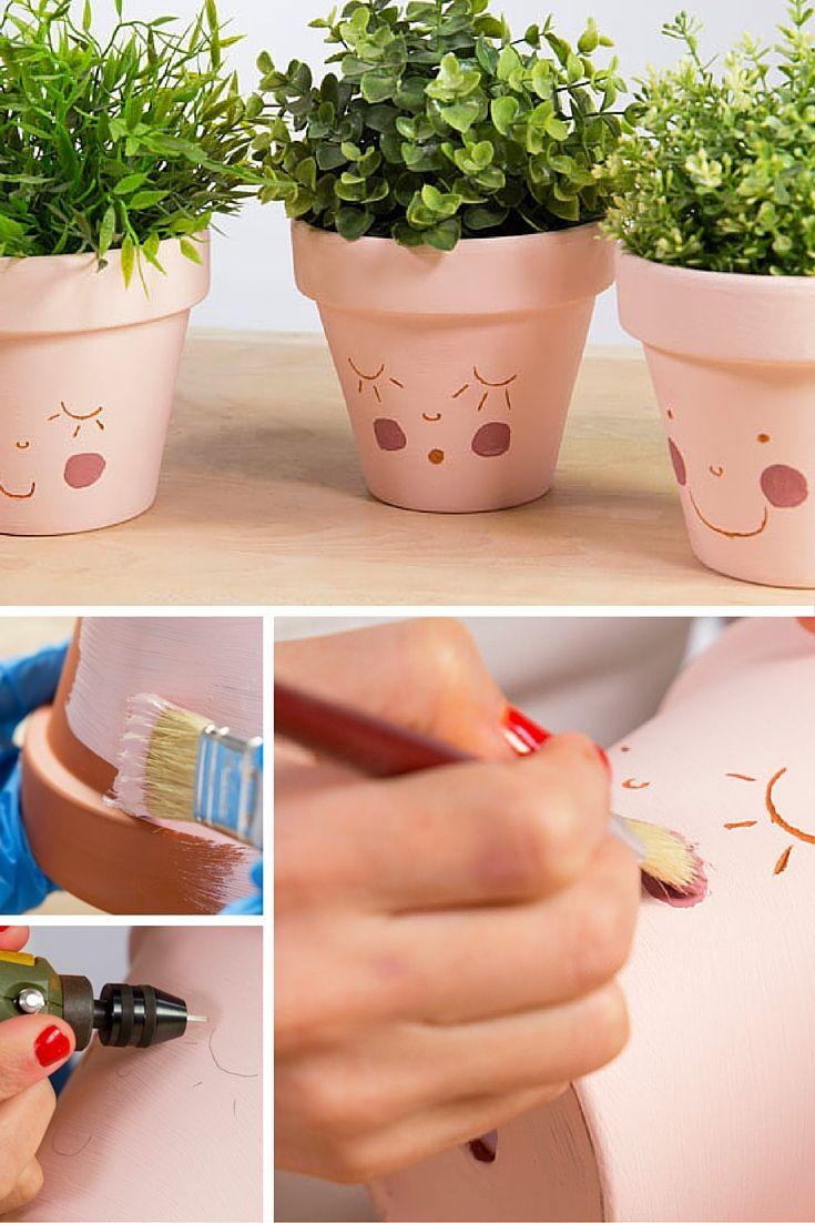 Mejores 111 im genes de personaliza tu casa en pinterest - Como decorar macetas de barro ...