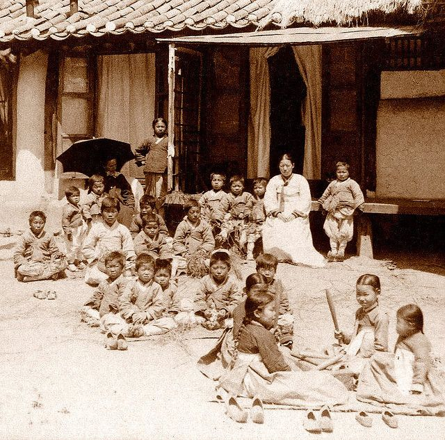 OLD KOREA - LAND OF THE MORNING CALM -- Miss Peary's English Mission Orphanage for the Destitute and Blind, SEOUL