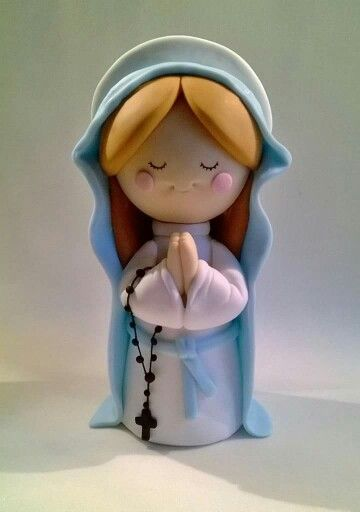 praying woman in polymer clay