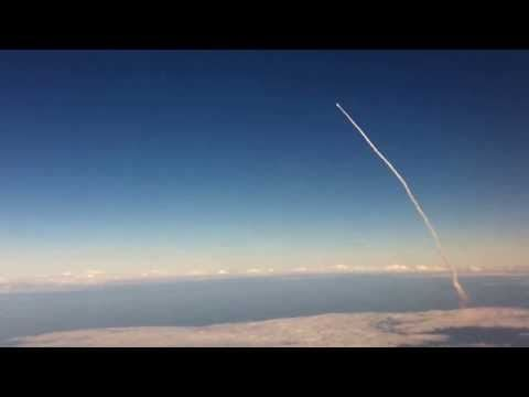 Space Shuttle Launch Viewed From an Airplane (HD Version)