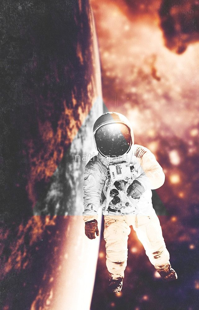 Floating in silence by nath-gary #Space #Nebula #Galaxy #Astronaut #Stars #Photomanip #Triangle #WarmColors #Dream #SciFi