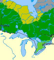 landform regions of ontario - Good map showing the 3 regions, in English