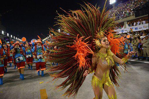 In Rio ging es in der Nacht zum Montag auf dem Straßenkarneval heiß her. Die brasilianischen Schönheiten zeigten zum Karneval-Höhepunkt viel nackte Haut und sexy Kurven. Foto: AFP