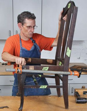 Repair Wood Furniture :  Make necessary repairs to antique wooden chairs with these step-by-step instructions for dismantling and reassembling chairs.