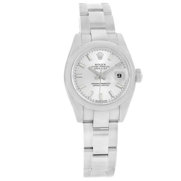 Pre-owned Rolex Datejust 179160 Stainless Steel Silver Dial 26mm... (58.614.525 IDR) ❤ liked on Polyvore featuring jewelry, watches, stainless steel jewelry, bezel jewelry, pre owned watches, preowned jewelry and bezel watches