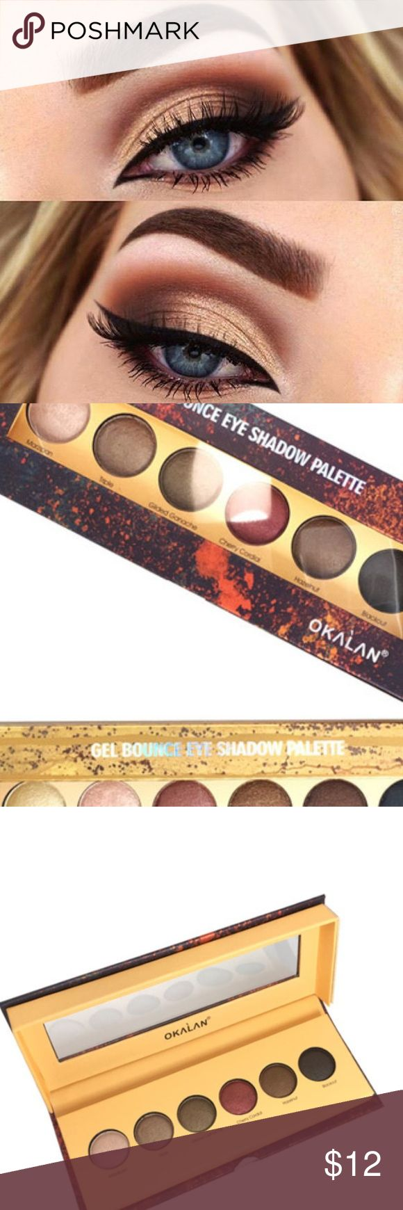New!! Gel bounce high pigmented eyeshadow Brand new in box beautiful colors very highly pigmented choose between which box you want the yellow box or the Redbox Makeup Eyeshadow