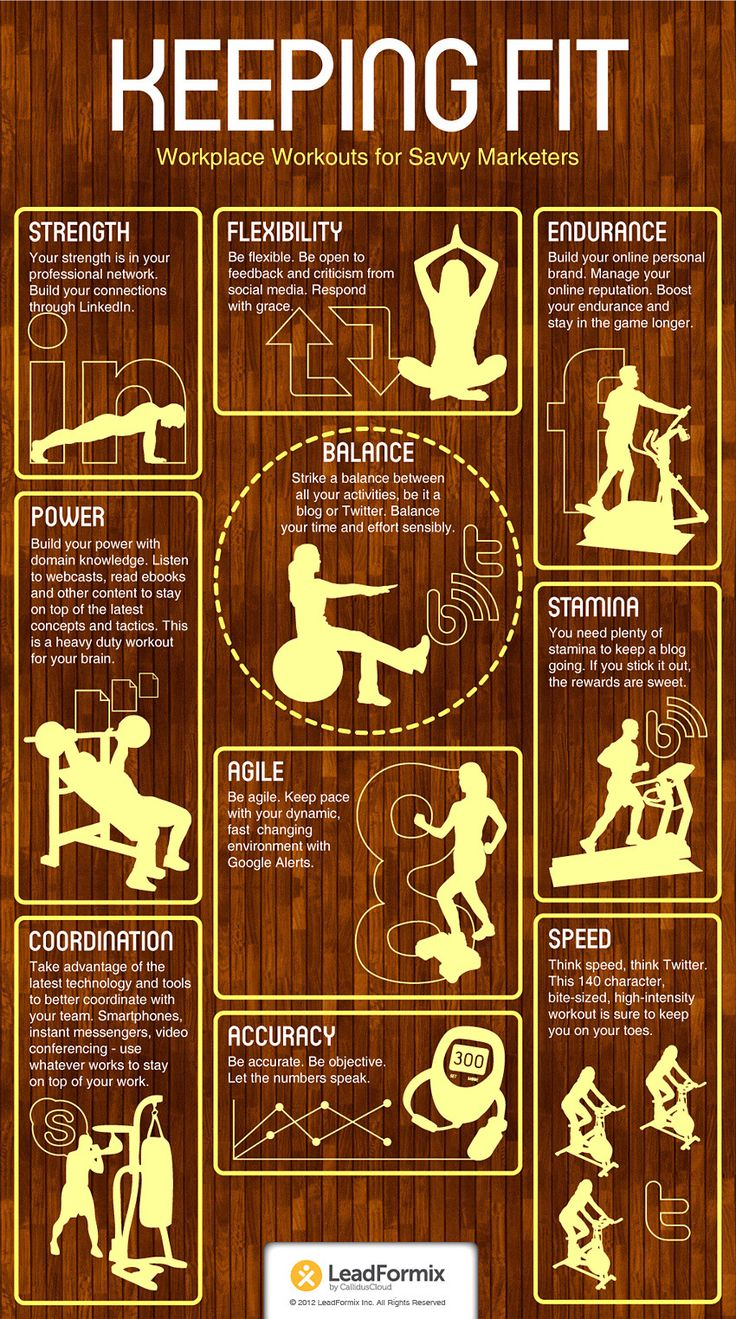 Keeping fit: workplace workouts for savvy marketers #infographics #livegreat