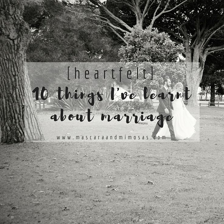 [heartfelt] : 10 Things I've learnt about marriage...18 months in -