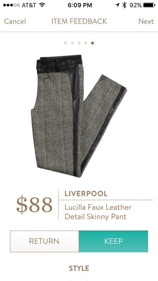 Liverpool Lucilla Faux Leather Detail Skinny Pant