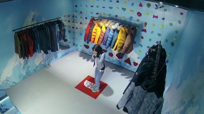 This North Face Store's Floor Disappears, Forcing Startled Shoppers to Climb the Walls | Adweek