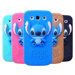 Cute Samsung Galaxy S3 i9300 Stereoscopic Stitch Cases Back Cover