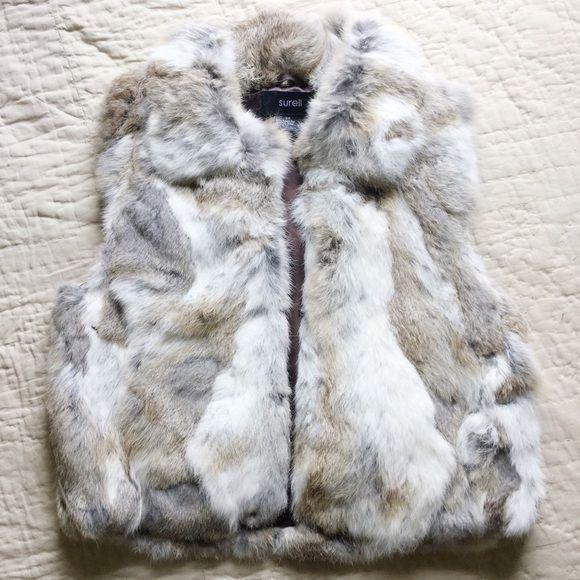 Genuine Rabbit Fur Vest  NWOT Never worn. SO soft and beautiful. 100% Rabbit fur Surell Jackets & Coats Vests