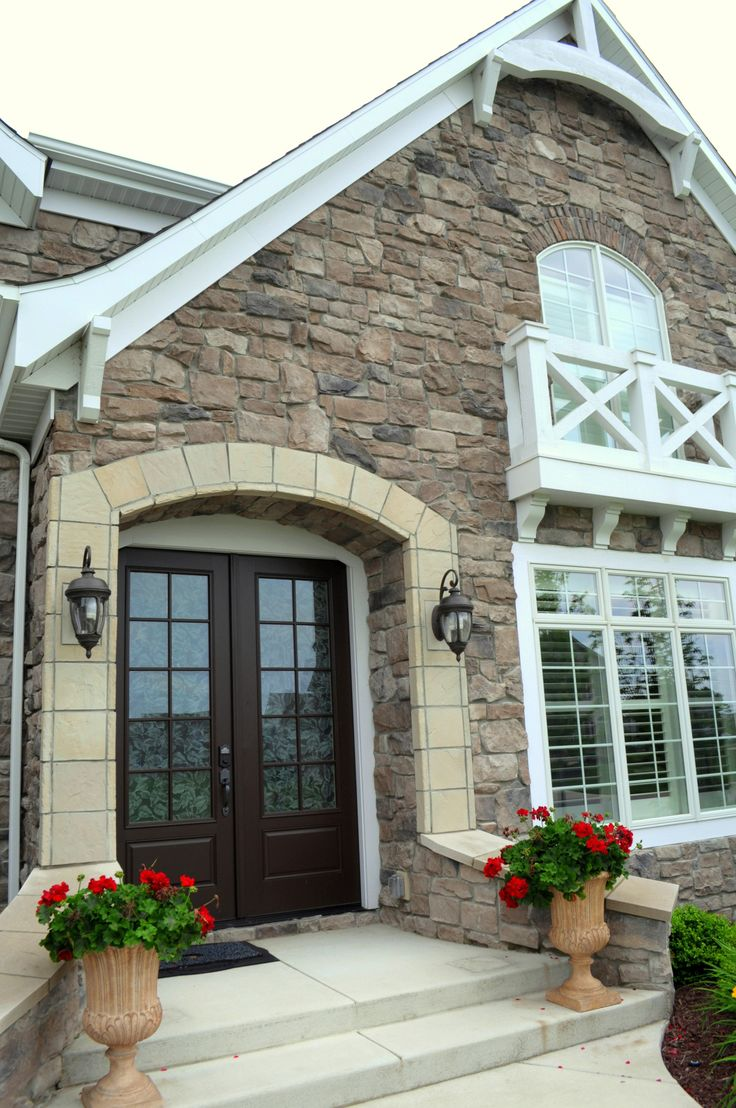 Great Stoned Exterior Home With Trimmed Entryway Price Quartz JN Stone