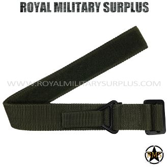 "Belt - Tactical Ops/Commando (Velcro) - OD GREEN (Olive Drab) - 16,45$ (CAD) - OD GREEN (Olive Drab) Commando/Special Forces Design Made following Military Specifications 100% Nylon (PVC Buckle) Fully Adjustable Velcro System Precise & Solid for All Sizes ALICE & MOLLE System Compatible One Size: 46""x 1.75"" (117 CM x 8 CM) BRAND NEW WWW.ROYALMILITARYSURPLUS.COM"