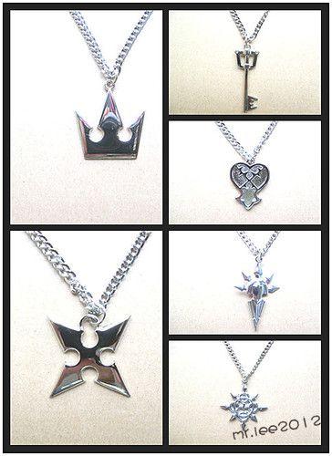 Wholesale Kingdom Hearts Sora Crown Keyblade Roxas Cross Necklace Pendant Figure   eBay