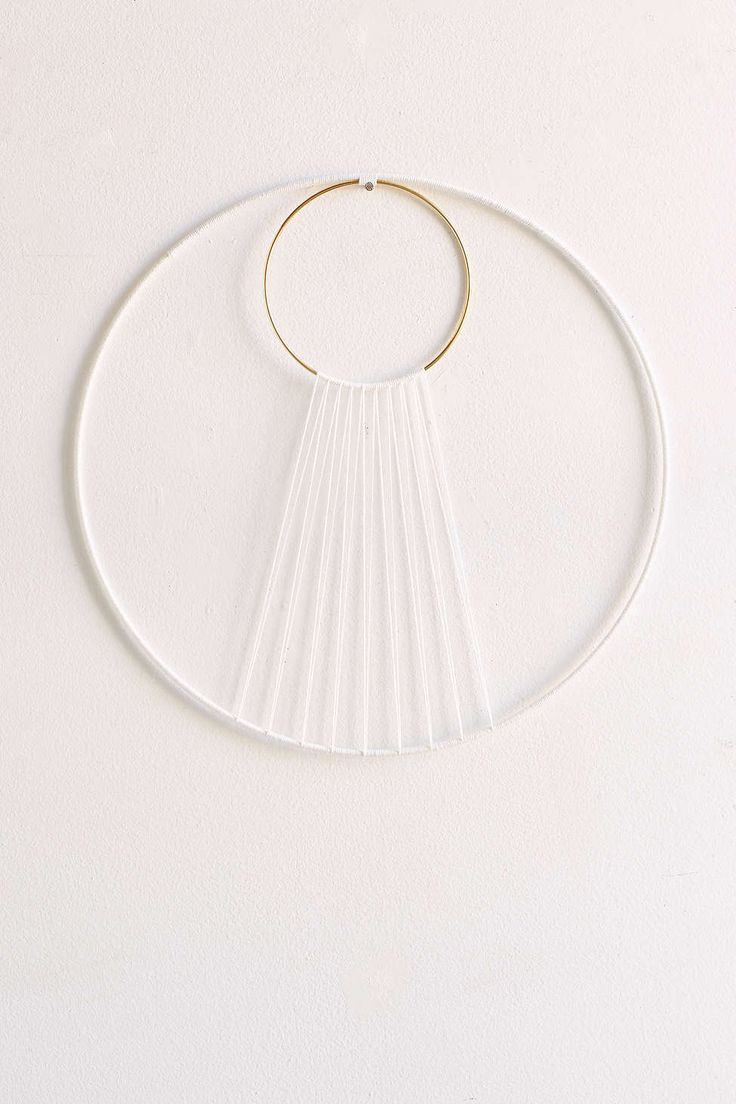Sonadora Hemp + Brass Eclipse Wall Hanging UO. DIY potential. Use a gold bangle for the inner hoop!