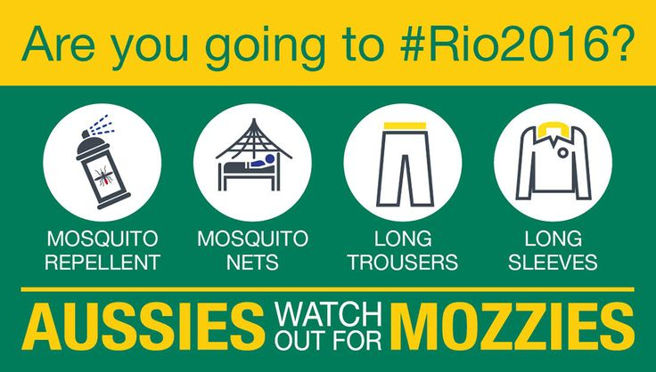 Travelling to the 2016 #Olympics? Protect yourself from mosquito-borne illness. Info at health.gov.au/rio2016