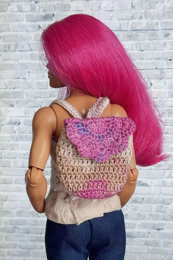 Barbie Backpack and Berry-Stitched Shrug (Free Crochet Pattern ... | 1104x736