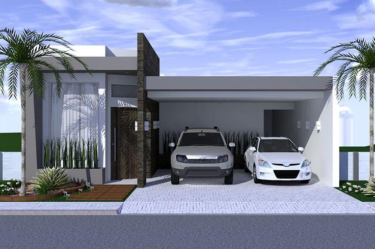 Planta de casa com ambientes integrados - Projetos de Casas - Modelos de Casas