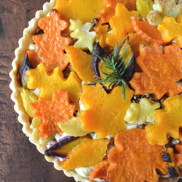 Harvest Vegetable Tart | CraftyBaking | Formerly Baking911