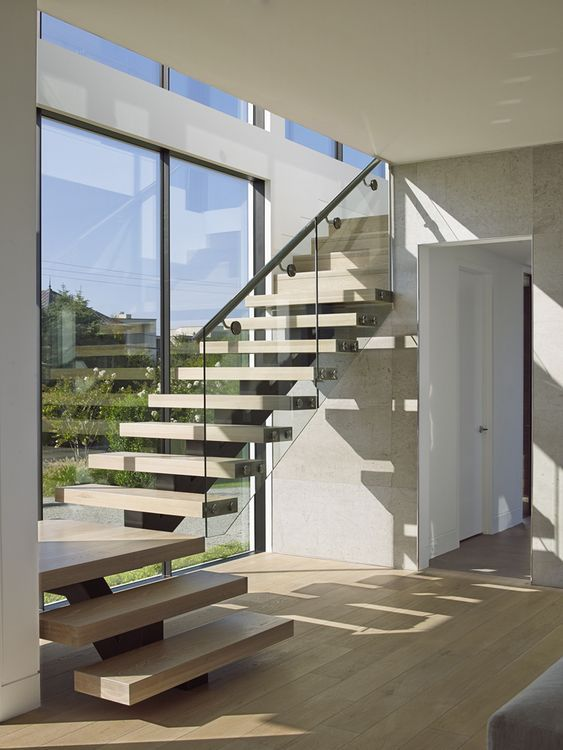 L Shaped Staircase Quarter Turn Staircase In 2019 Glass | L Shape Stair Design