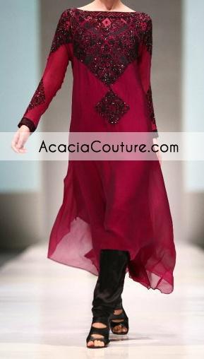 maroon a-line formal | Maroon Casual Wear Aline Shirt Churidar | Latest Pakistani Formal ...