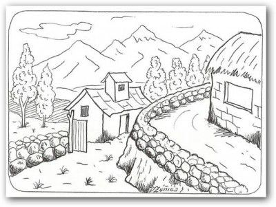 dibujos para colorear de paisajes bellos