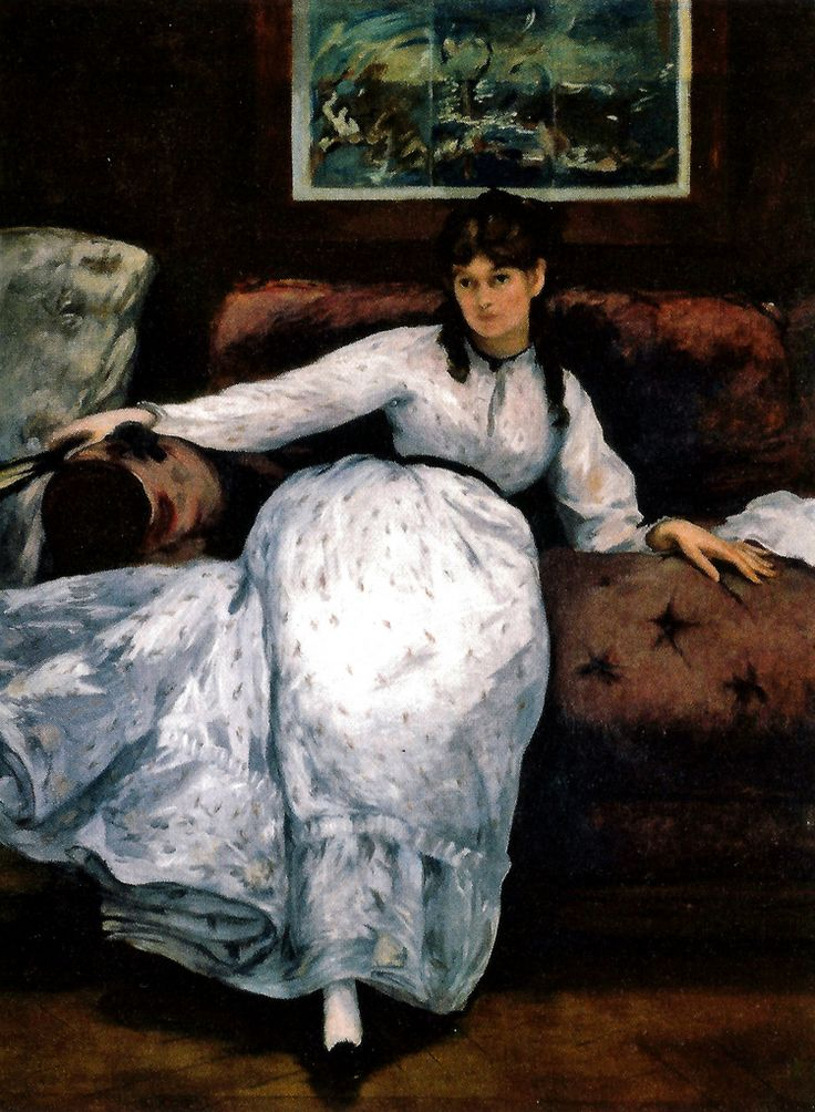 Edouard Manet - Berthe Morisot, the Rest, 1871 (Rhode Island Museum of Art) at Museo Thyssen-Bornemisza Madrid Spain | by mbell1975