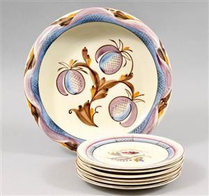 Vara: 3073985Ilse Claesson Rörstrand skål med assietter 1920/30-tal (7)