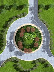 Roundabout, a landscape project with Lands-Design, the software to design and model gardens