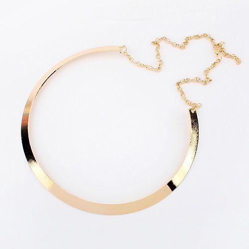 F & U Promocje Moda Momenty Naszyjnik Pozłacane Naszyjnik Metal Bib Choker Komunikat Collar Naszyjnik dla Kobiet N371