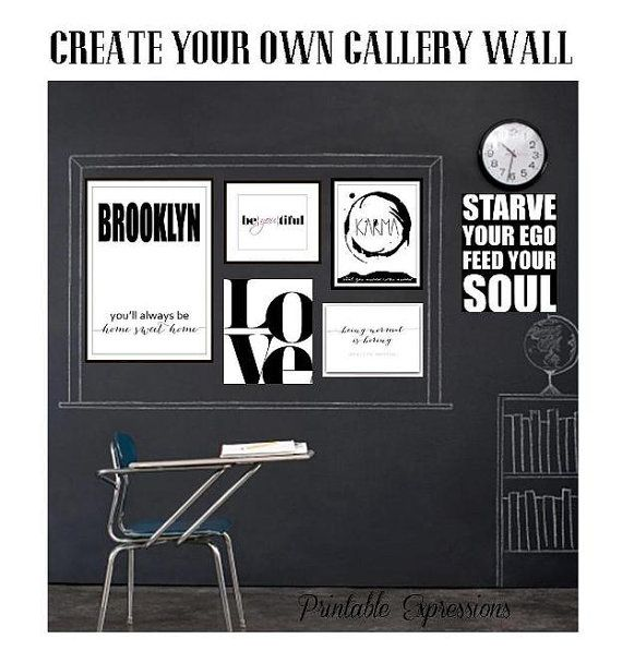 Do you love a great Gallery Wall?  Hip and so on Trend!