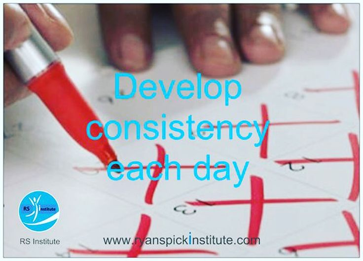 Develop #consistency each day
