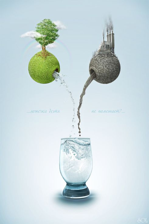 ♂ Creative advertising inspiration - Two earth