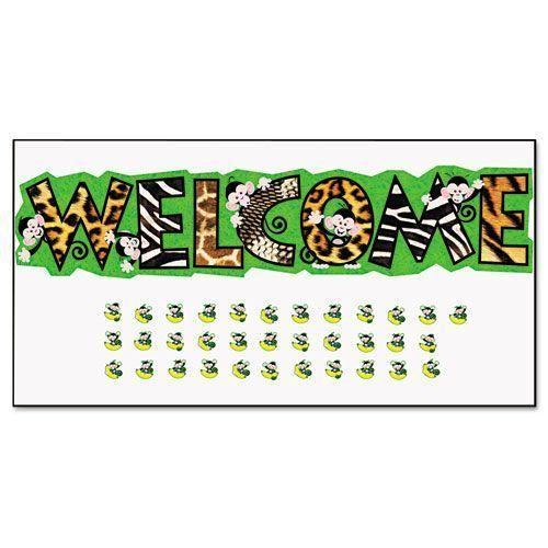 Monkey Mischief Welcome Bulletin Board Set, 81W X 18H