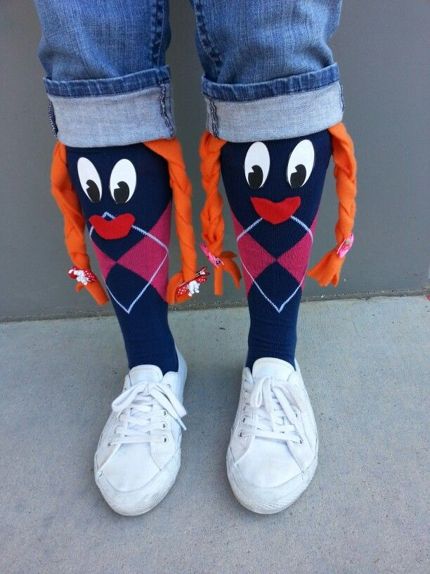 My crazy sock day creation
