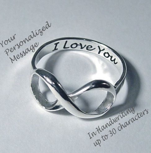 Personalized couple promise rings