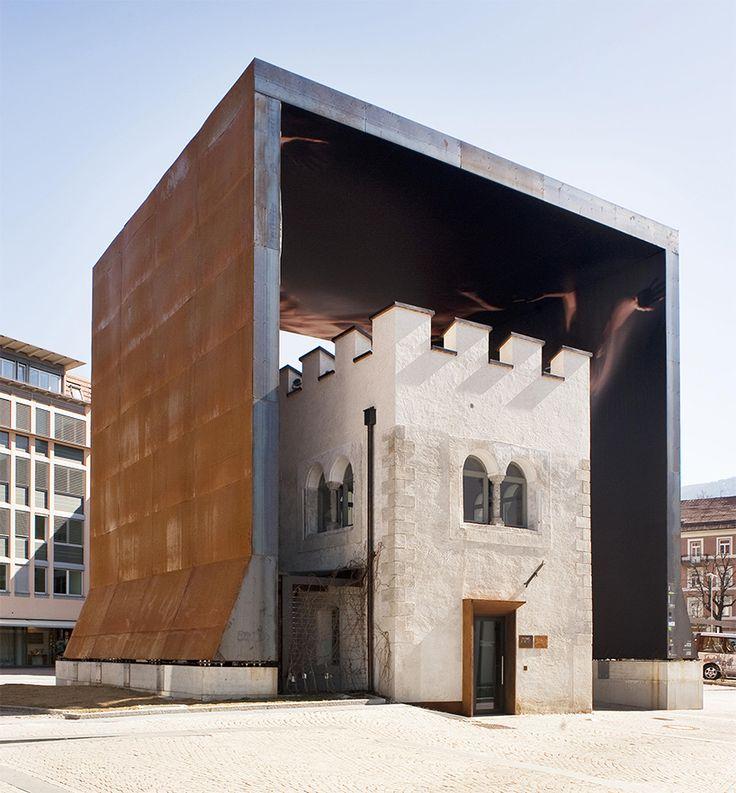 Stefan hitthaler houses bolzanos gunpowder tower in a corporeal landscape