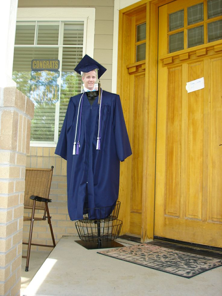 Full Size Graduation Mannequin with Graduates face dressed ...