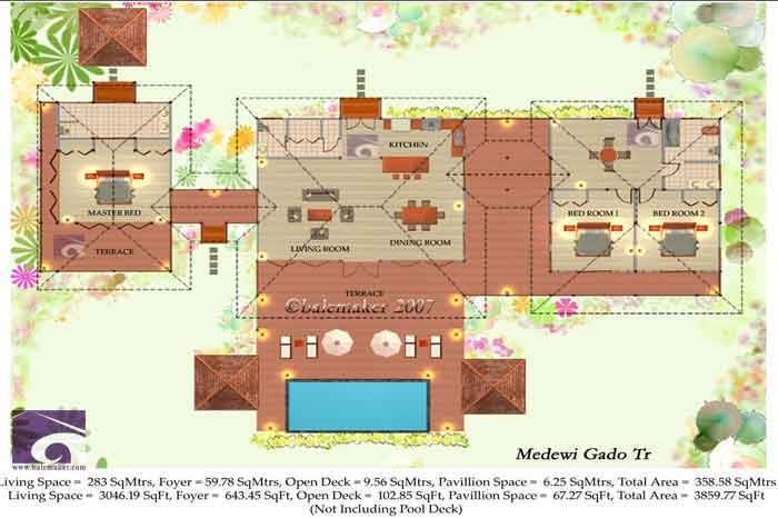 Tropical House Plans Medewi Gado Tr House Plans