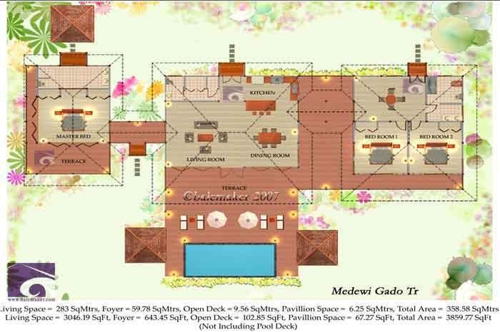Tropical house plans Medewi Gado TR House Plans Balemaker Tropical