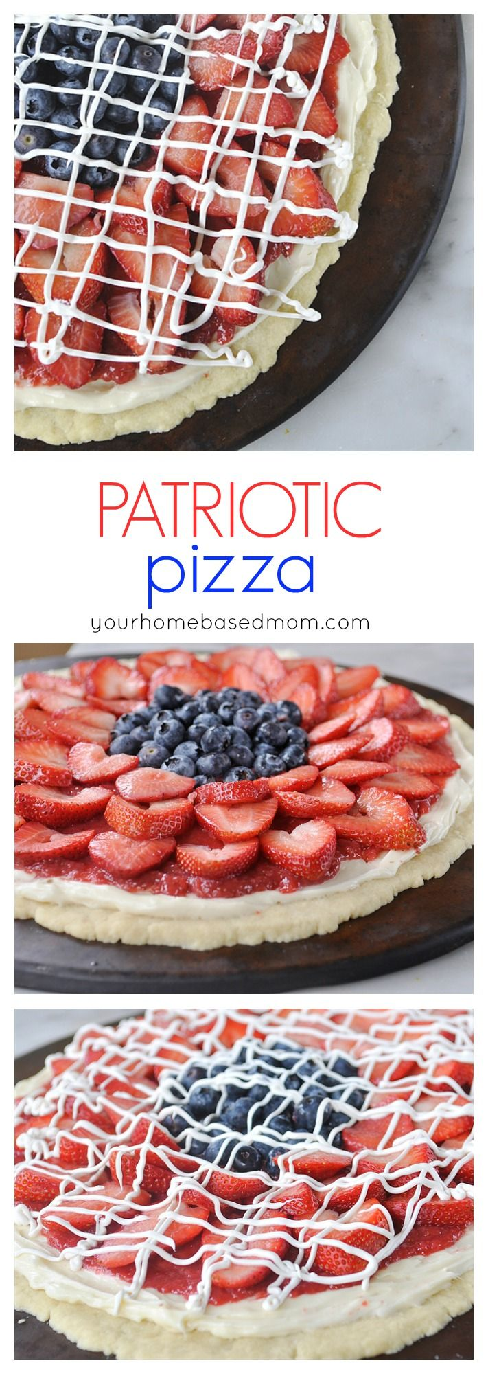 Patriotic Pizza - perfect for the fourth of July.