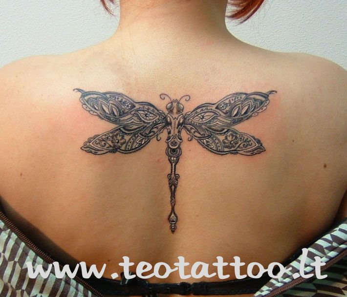 celtic dragonfly tattoos for women | View More Tattoos Pictures Under: Dragonfly Tattoos