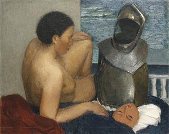 Giuseppe Capogrossi Nudo e corazza 1932