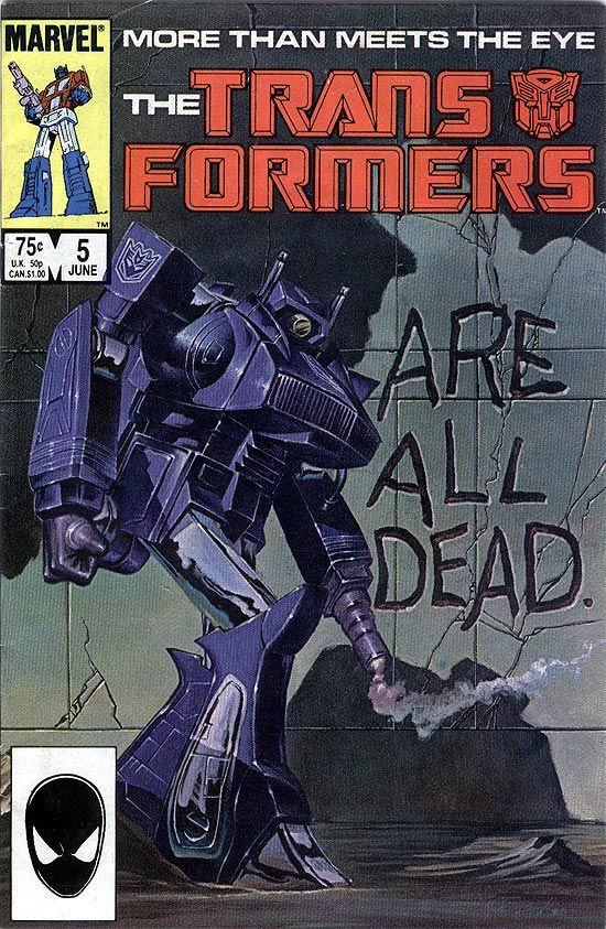 """The Transformers #5 (Marvel Comics) : """"...Are All Dead"""" - Cover Art by Earl Norem"""