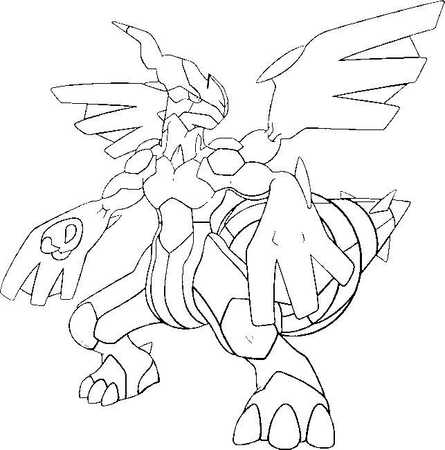 Coloring Page Pokemon Zekrom Pokemon Coloring Pages Pokemon