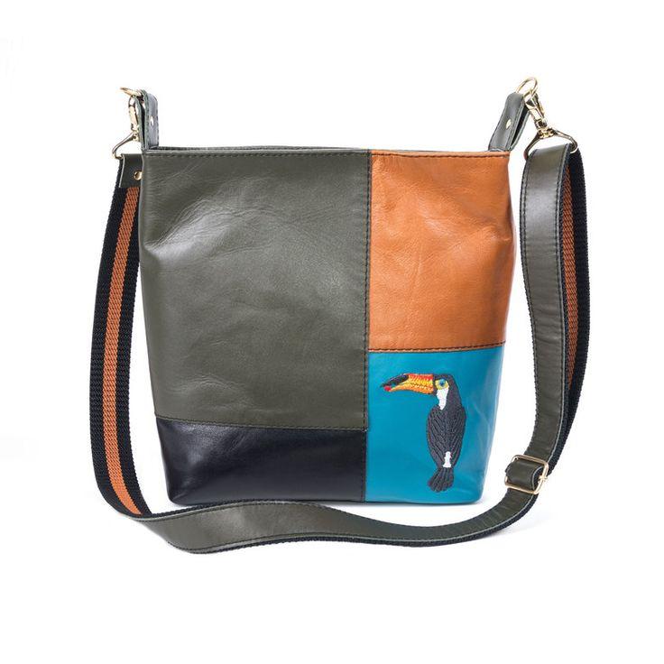 Кожаная сумка «Тропикана»   Tizetta   Торжокские золотошвеи