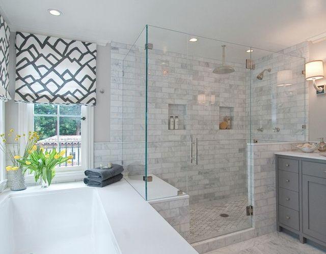 17 meilleures id es propos de carrelage gris clair sur pinterest salles de bains gris clair for Carrelage gris mur prune
